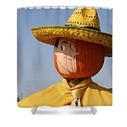 Man With The Yellow Hat Shower Curtain