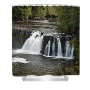 Manabezho Falls 3 Shower Curtain