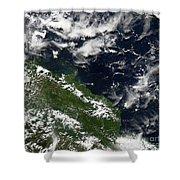 Manam Island, Papua New Guinea Shower Curtain