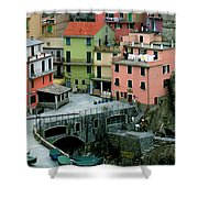 Manarola Houses On The Cinque Terre II Shower Curtain