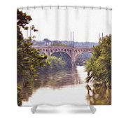Manayunk Bridge Along The Schuylkill River Shower Curtain
