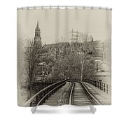 Manayunk From The Tressel Tracks Shower Curtain