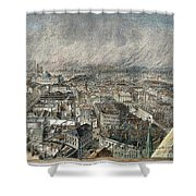 Manchester, England, 1876 Shower Curtain