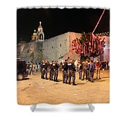 Manger Square At Night Shower Curtain