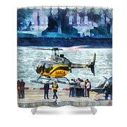 Manhattan Heliport Shower Curtain
