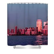 Manhattan In Pink Shower Curtain