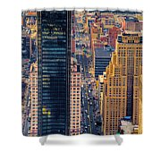 Manhattan Streets From Above Shower Curtain