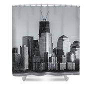 Manhattan Sunset Reflections II Shower Curtain