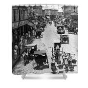 Manilla - Philippine Islands - Escolta Street Scene - C 1901 Shower Curtain