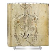 Mansurs Anatomy, Skeletal System, 15th Shower Curtain