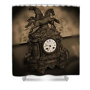 Mantel Clock Shower Curtain