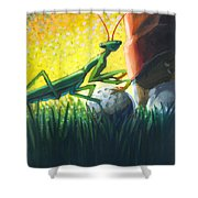 All Players Great And Small - Mantis Shower Curtain