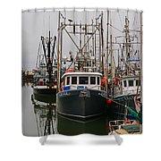 Many Fish Boats Shower Curtain