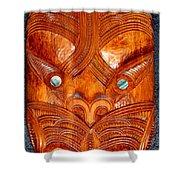 Maori Mask One Shower Curtain