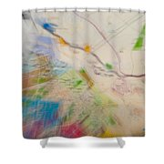 Map Abstract 2 Shower Curtain