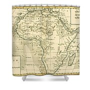 Map Of Africa Shower Curtain