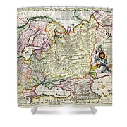 Map Of Asia Minor Shower Curtain