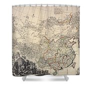 Map Of China, 1734 Shower Curtain