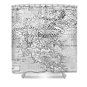 Map Of New France, 1566 Shower Curtain