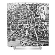 Map Of Paris Shower Curtain by German School