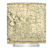 Map Of Persia Shower Curtain
