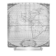 Map Of The New World 1587 Shower Curtain