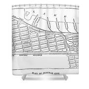 Map: Pullman, C1885 Shower Curtain