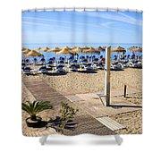 Marbella Holiday Beach Shower Curtain