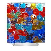 Marble Collection Abstract Shower Curtain