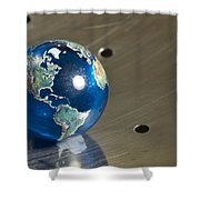 Marble Earth 1 B Shower Curtain