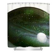 Marble Green Onion Skin 3 Shower Curtain