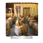 Marbled Caramel Apples Shower Curtain