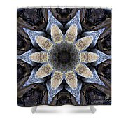 Marbled Mandala - Abstract Art Shower Curtain