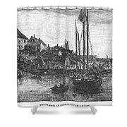 Marblehead: Fishing Boats Shower Curtain