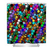 Marbles..or...gumballs Shower Curtain