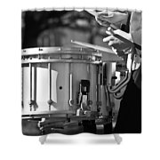 Marching Band Drummer Boy Bw Shower Curtain