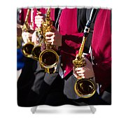 Marching Band Saxophones Cropped Shower Curtain