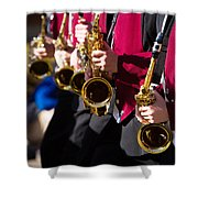 Marching Band Saxophones  Shower Curtain