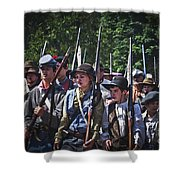 Marching In To Town Shower Curtain
