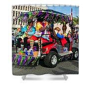 Mardi Gras Clowning Shower Curtain