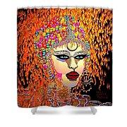 Mardi Gras Shower Curtain by Natalie Holland