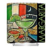 Margarita Poster Shower Curtain