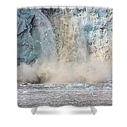 Margerie Glacier Calving Shower Curtain