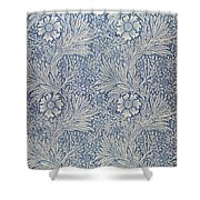 Marigold Wallpaper Design Shower Curtain