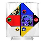 Marilyn De Stijl Shower Curtain