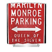 Marilyn Monroe Parking Shower Curtain