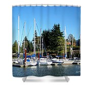 Marina At Cascade Locks Shower Curtain
