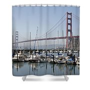 Marina At Golden Gate Shower Curtain