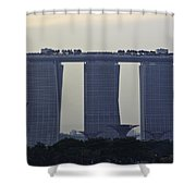 Marina Bay Sands As Seen From The Harbor Cruise Shower Curtain