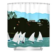 Marina Del Rey Shower Curtain